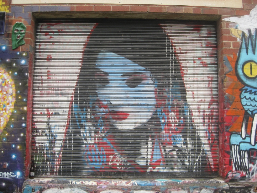 graffiti art footscray sad woman colour me in protest poetry talitha fraser